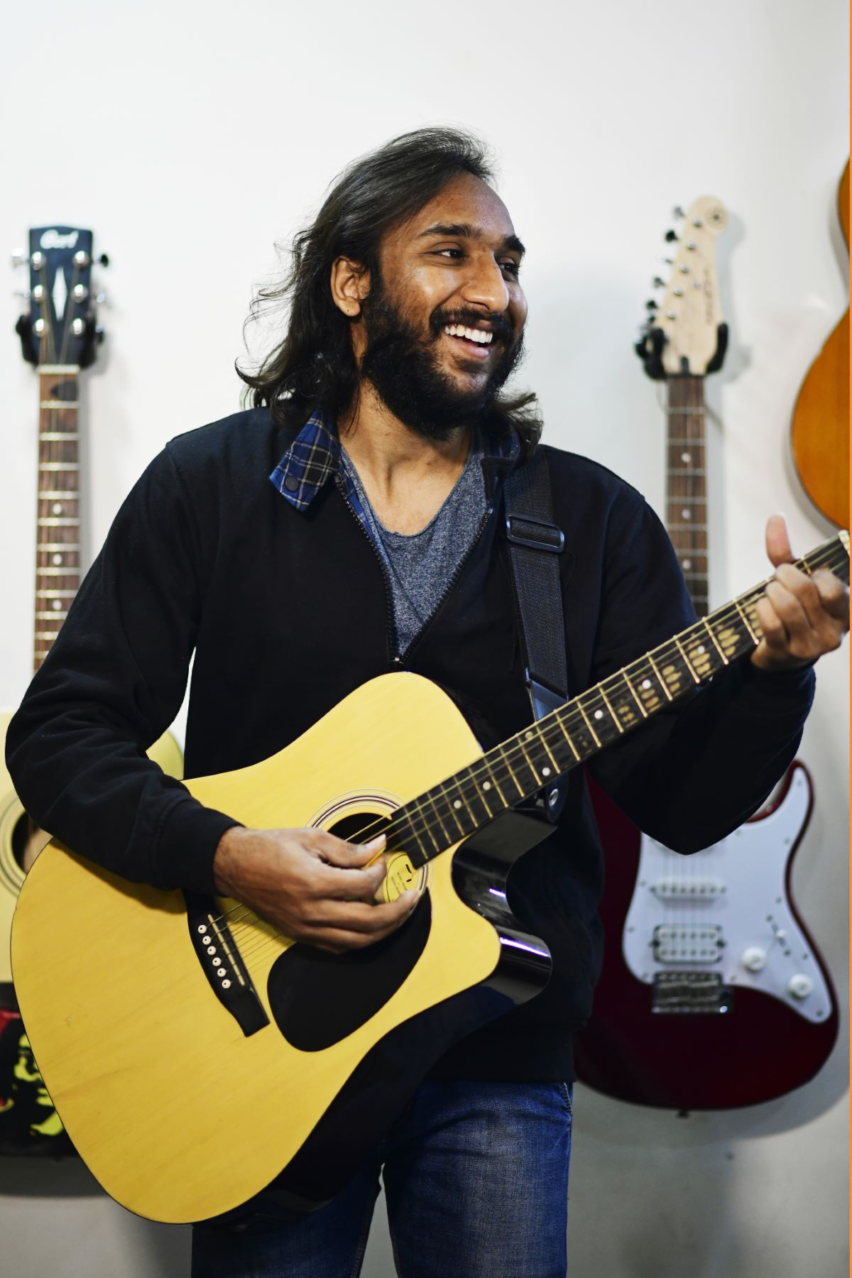 A Portrait of Raj Shah: Lead Guitarist and Composer at Ehsaas Band