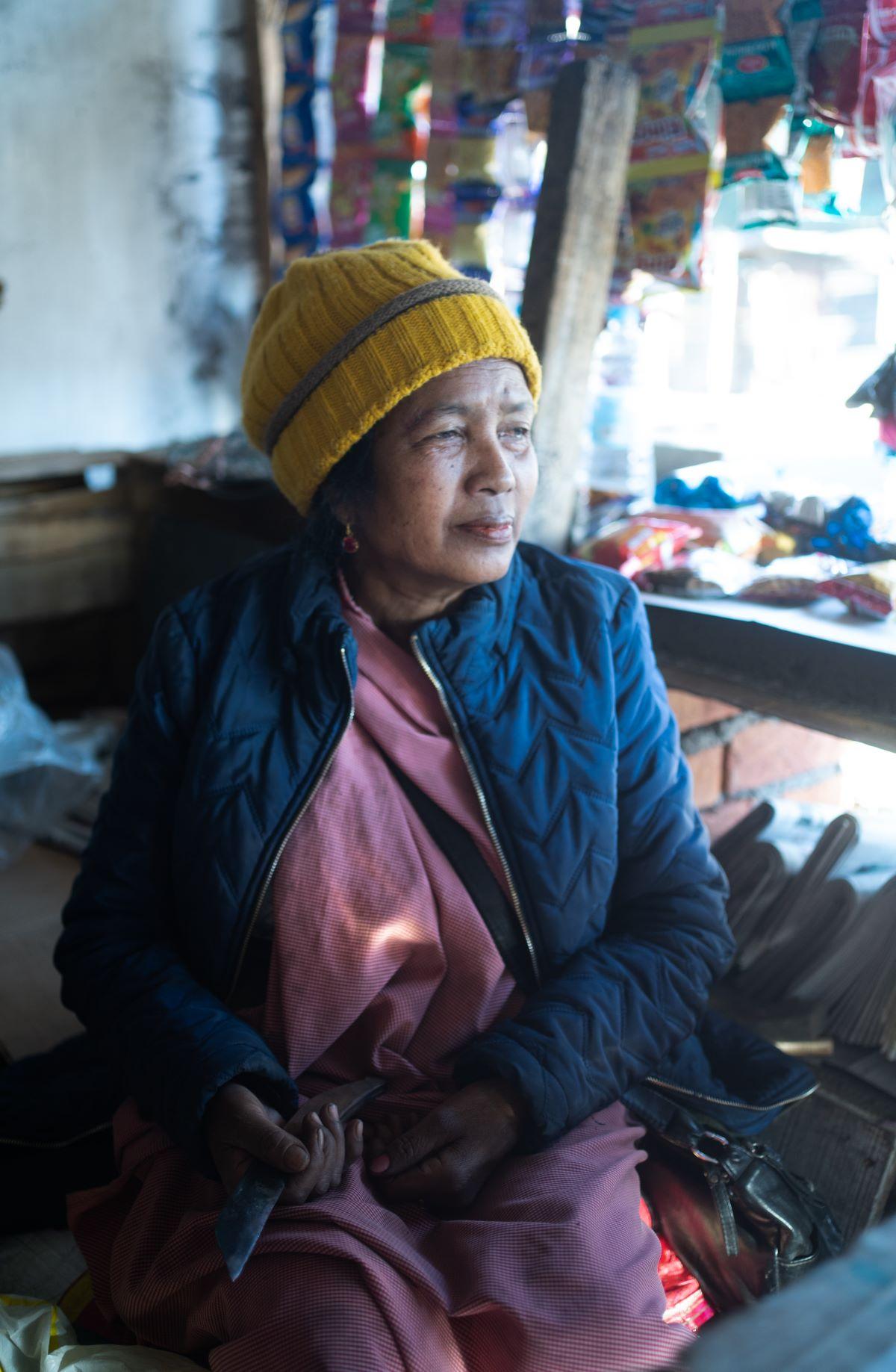 Portrait of Mrs. Priyolyne in her shop