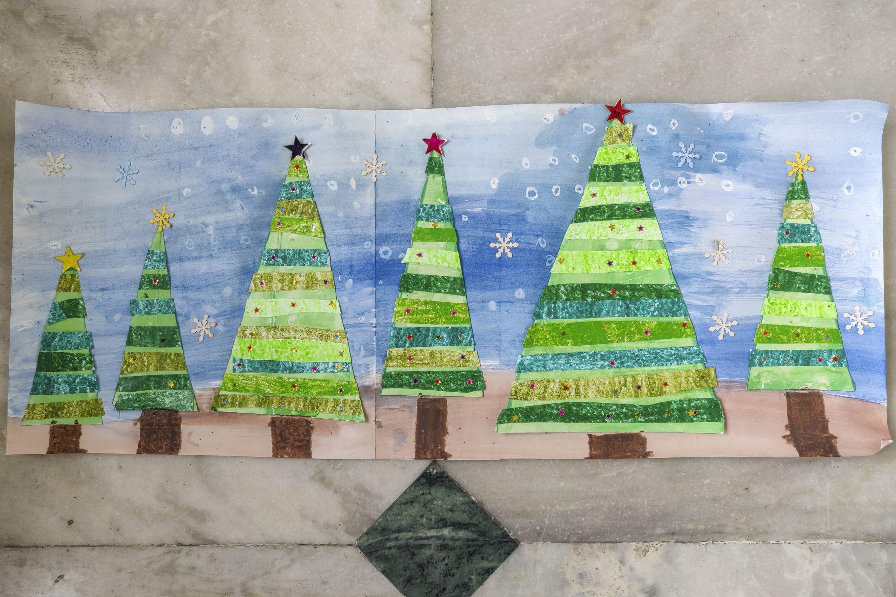 A christmas tree art by Madhav