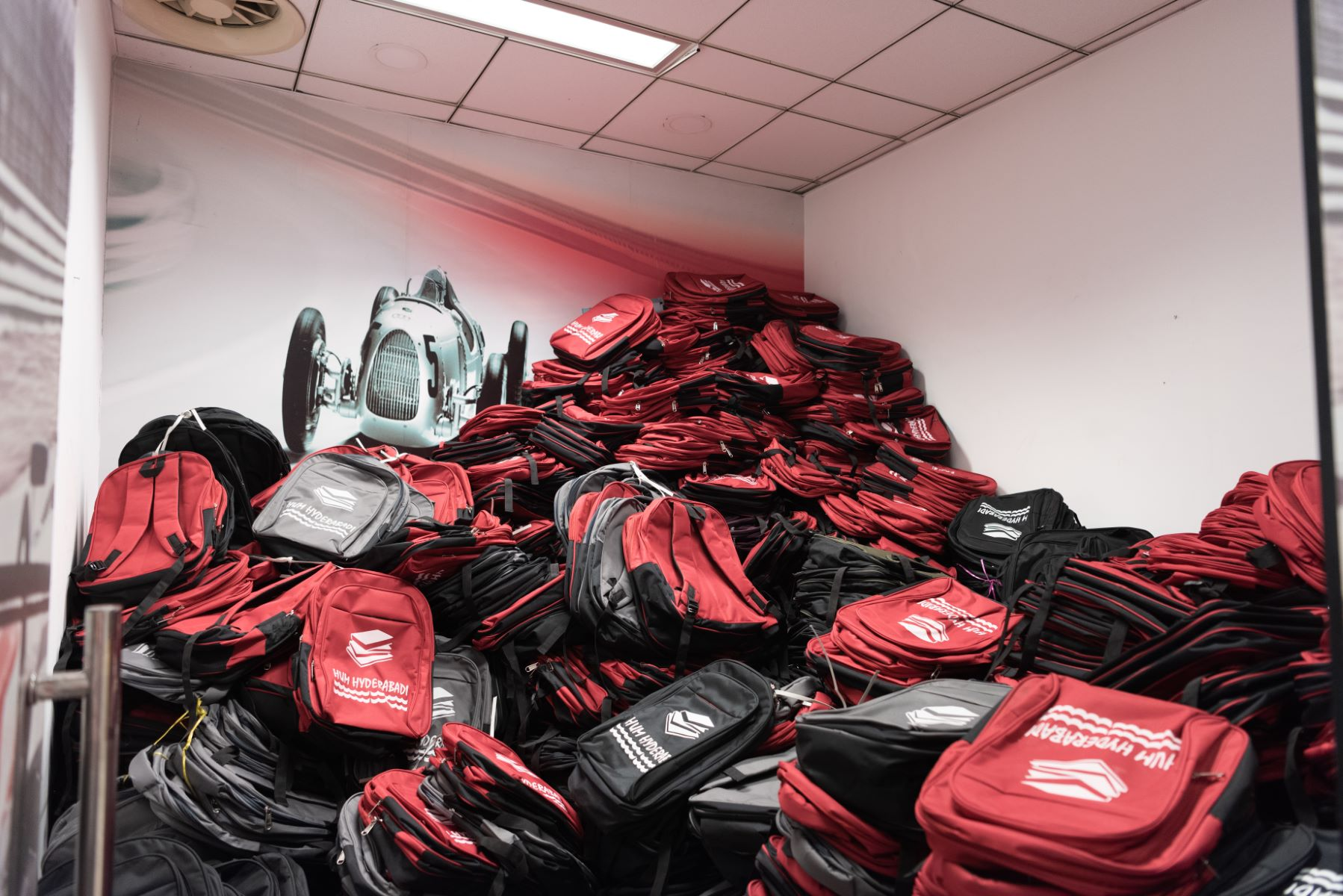 Special school kits were created for children to replace school bags destroyed in the floods