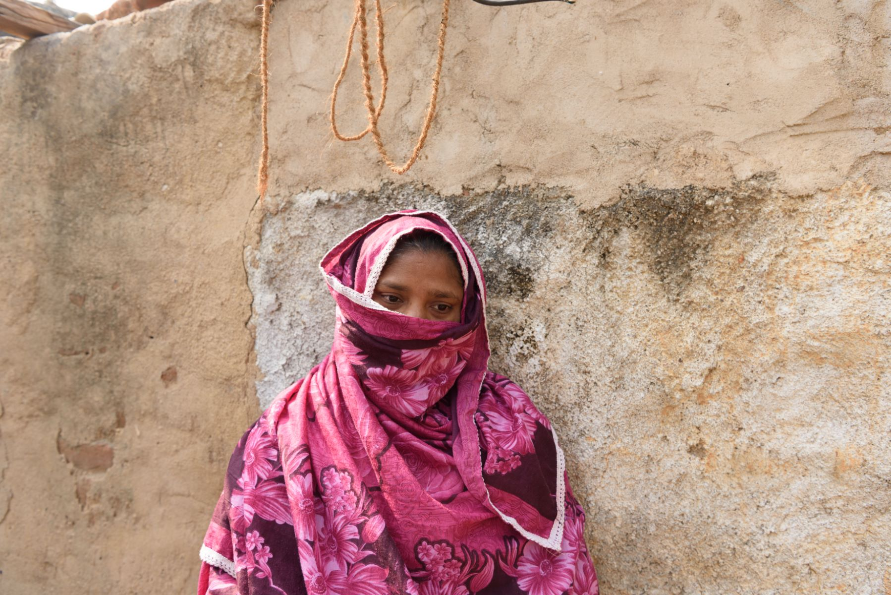 In Doulatabad village, Fatima Begum will be aided by SDIF to rebuild her rain-affected house