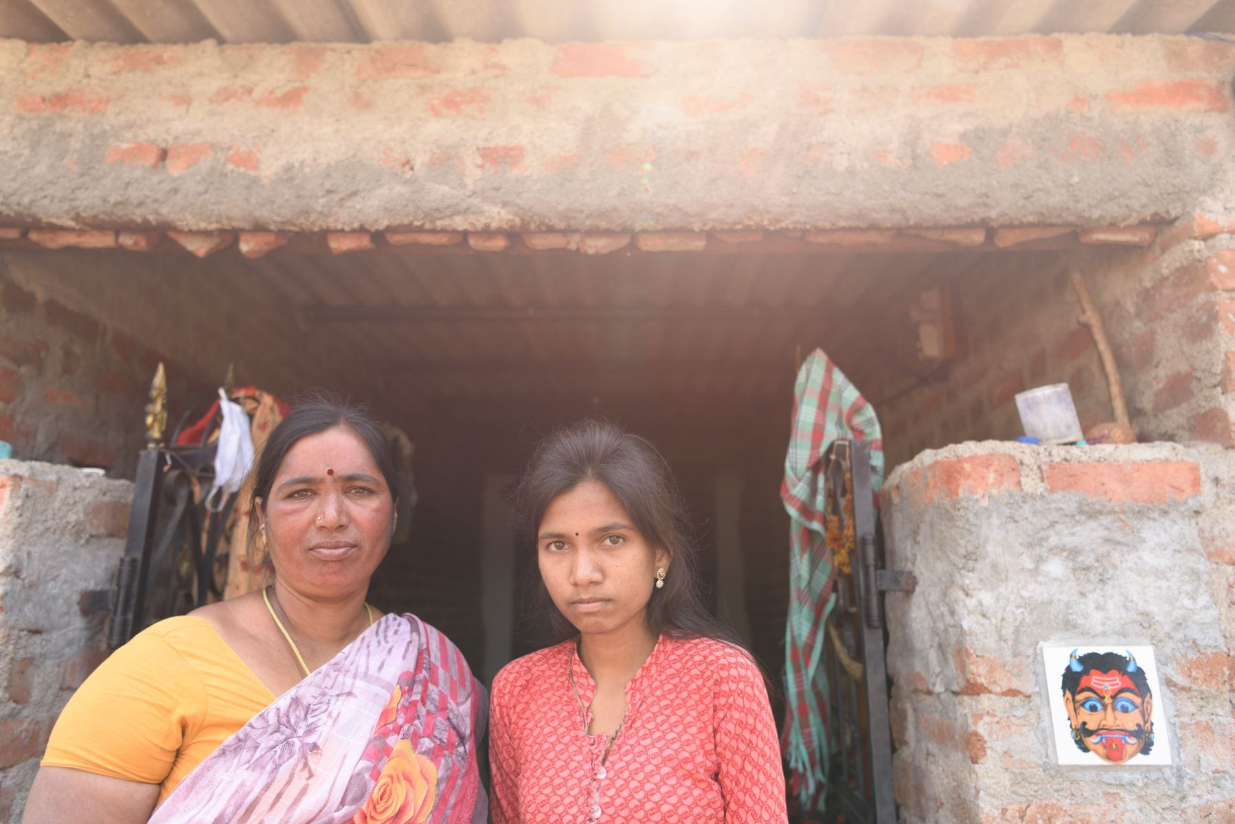 In Doulatabad village, SDIF will help rebuild P Yellama's mud house that collapsed in the rain