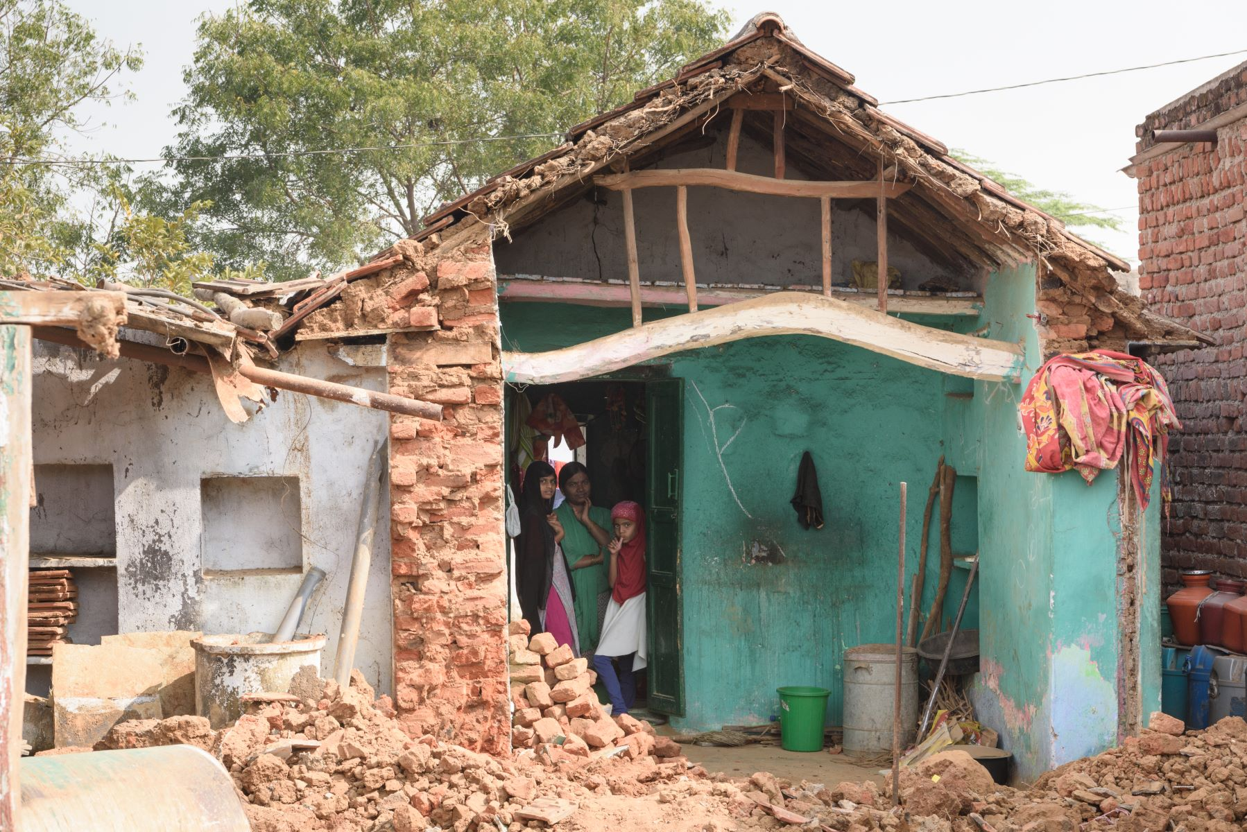 In Doulatabad village, SDIF identified families that required aid to rebuild rain affected homes
