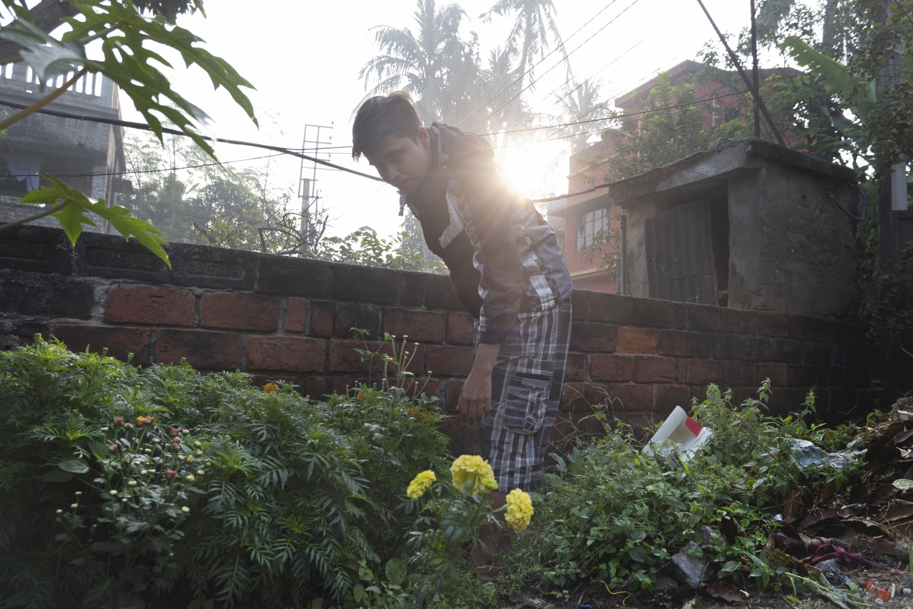 Ridim tending to his own garden