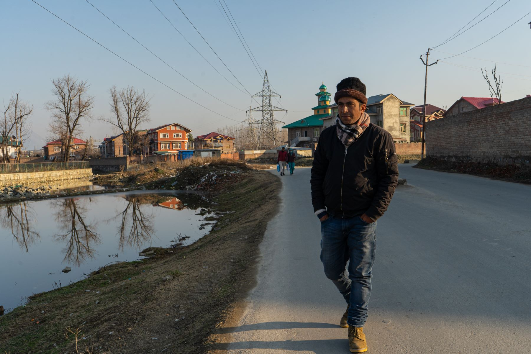 Sajad's Ahmed Khan's usual route for evening walks close to his grocery store in Bemina