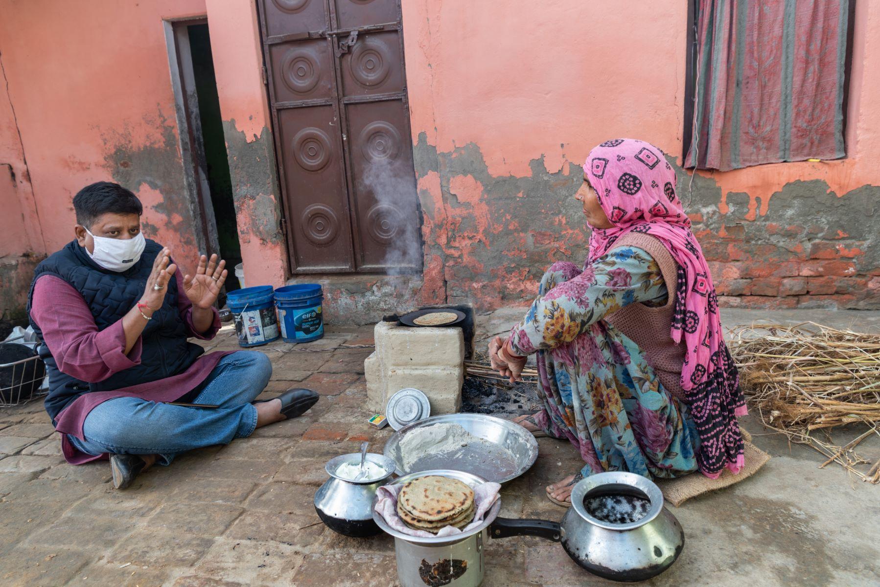 At the home of Munni, 55, a farmer at Dakhla village