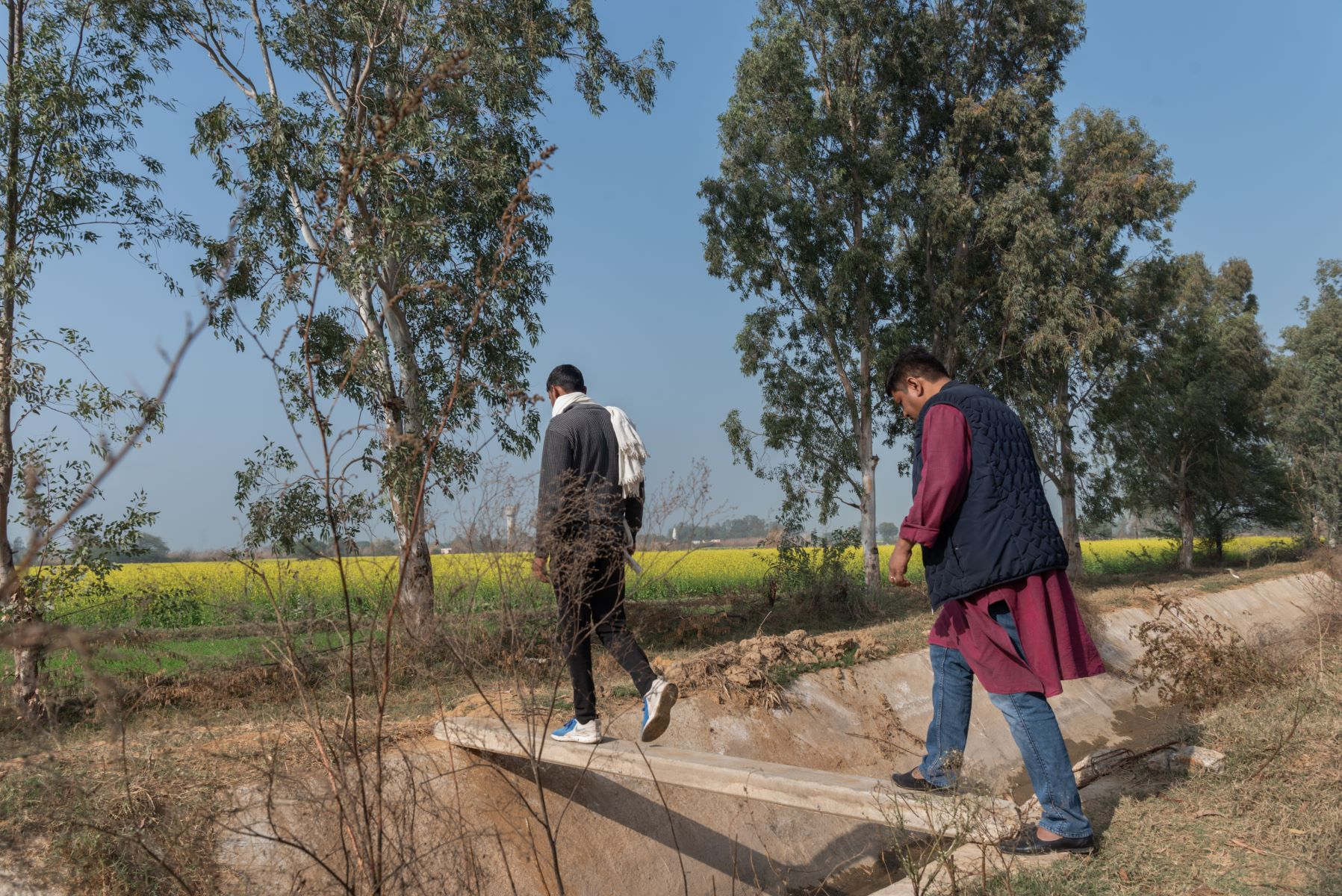 Field visit at Dhakla village