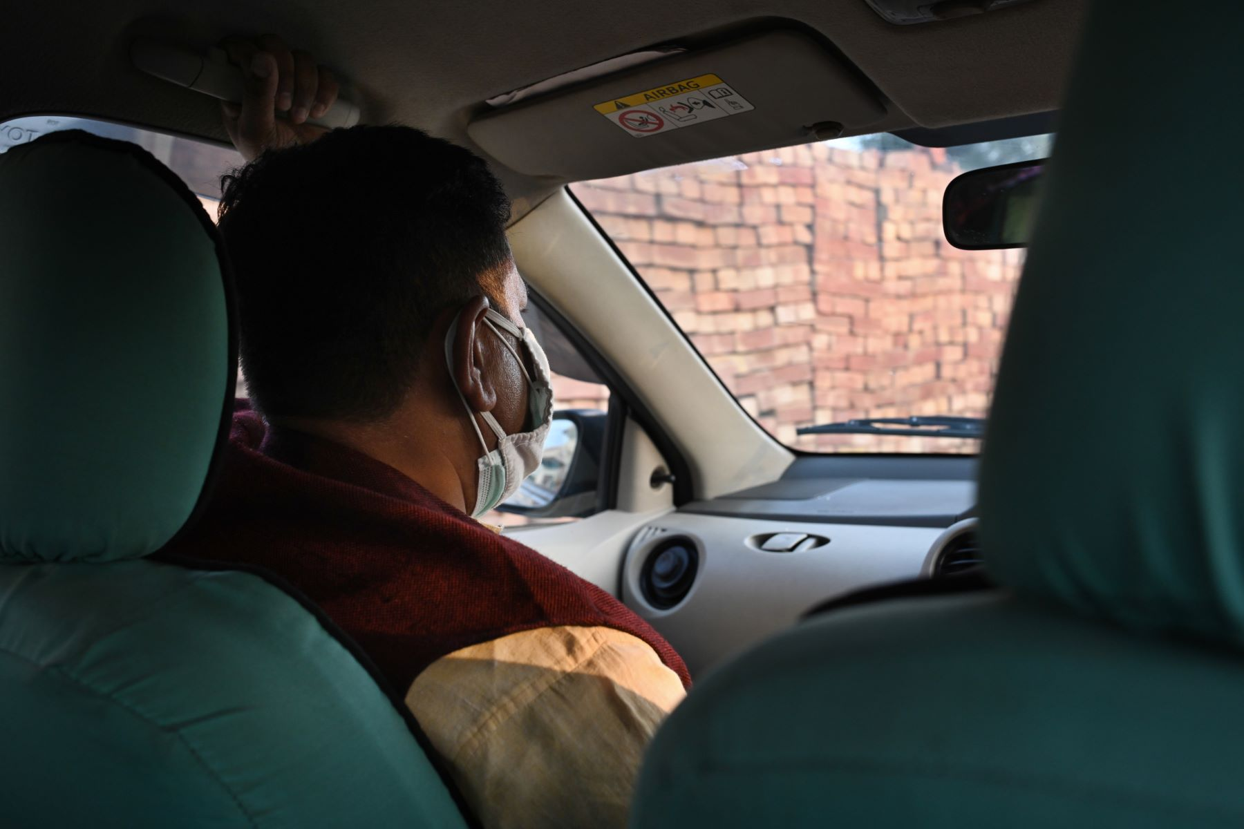 Rishi Kant on his way to a village in Haryana