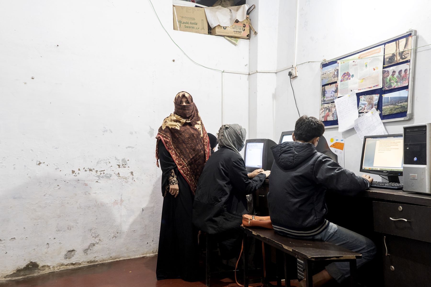 Mehreen takes computer classes for children at Eka and teaches English-Hindi typing and MS Paint